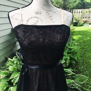 BCBG Black strapless Ballet Tulle Goth dress